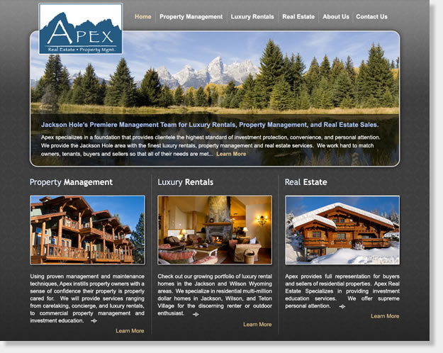 Awesome Resort Rental Website Design