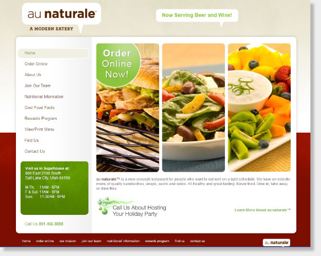 Restaurant website design food services web company