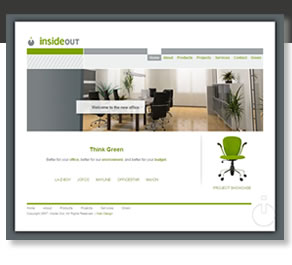 Commercial Interior Design Company Website Design